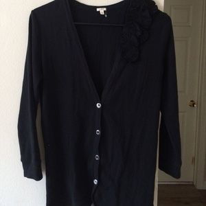 J.CREW CARDIGAN FLORAL APPLIQUE DESIGN S